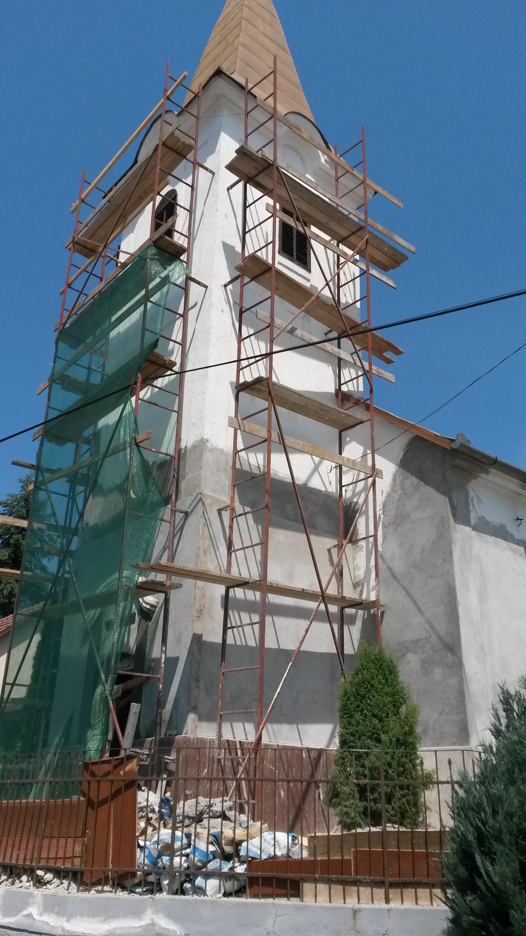 Templomfelújítás Erdőkürtön